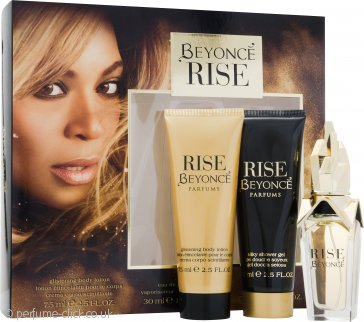 Beyoncé Rise Gift Set 30ml EDP + 75ml Shower Gel + 75ml Body Lotion