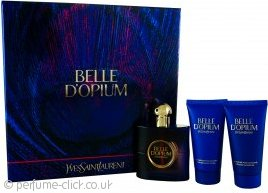 Yves Saint Laurent Belle D'Opium Gift Set 50ml EDT + 50ml Body Lotion + 50ml Shower Gel