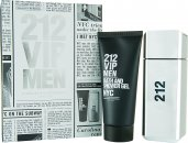 Carolina Herrera 212 VIP Men Gift Set 100ml EDT + 100ml B/S Gel