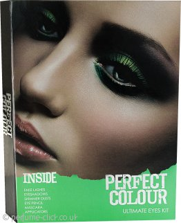 Jigsaw Perfect Colour Ultimate Eyes Kit 28 Pieces - Eye shadows + Shimmer Dust + Mascara + Eye Pencils + Fake Eye Lashes + Applicators
