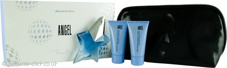 Thierry Mugler Angel Gift Set 25ml EDP + 30ml Body Lotion + 30ml Shower Gel + Pouch