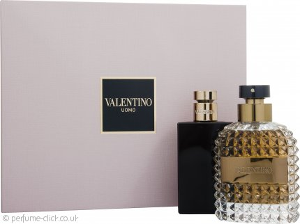 Valentino Uomo Gift Set 100ml EDT + 100ml Aftershave Balm