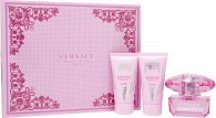 Versace Bright Crystal Absolu Set de Regalo 50ml EDP + 50ml Loción Corporal + 50ml Gel de Ducha