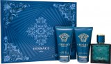 Versace Eros Gavesæt 50ml EDT + 50ml Aftershave Balm + 50ml Shower Gel