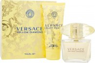 Versace Yellow Diamond Geschenkset 90ml EDT Spray + 100ml Body Lotion