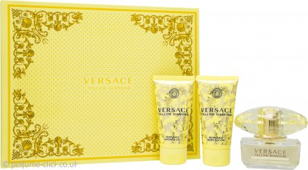 Versace Yellow Diamond Gift Set 50ml EDT + 50ml Shower Gel + 50ml Body Lotion