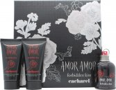 Cacharel Amor Amor Forbidden Kiss Gift Set 50ml EDT Spray + 2 x 75ml Body Lotion