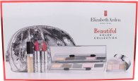 Elizabeth Arden Beautiful Color Gift Set 5 x Eyeshadows + Shimmer Powder + 2 x Lipstick + Lip Gloss + Silver Makeup Bag