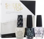 OPI Nail Polish Sheer To The Top Gift Set 15ml Top Coat + 15ml Matte Top Coat + 15ml So Elegant
