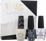OPI Nagellak Sheer To The Top Geschenkset 15ml Top Coat + 15ml Matte Top Coat + 15ml So Elegant