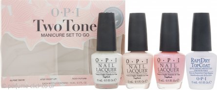 OPI Nail Polish Two Tone Manicure To-Go Gift Set 4 x 15ml Polishes