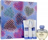 Moschino Toujours Glamour Set de Regalo 50ml EDT + 30ml Gel de ducha + 30ml Crema de cuerpo + 30ml Body Gel