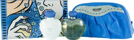 Moschino Toujours Glamour Gift Set 100ml EDT + 100ml Body Lotion + Toiletry Bag
