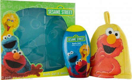 Sesame Street Gift Set 250ml Bath Gel & Bath Mitt