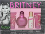 Britney Spears Fantasy Geschenkset 100ml EDP + 50ml Duschgel + 50ml Bubble Bath + 50ml Body Souffle