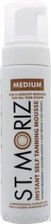 St Moriz Self Tan Range Instant Self Tanning Mousse 200ml Medium