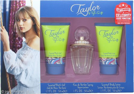 Taylor Swift Taylor Gift Set 30ml EDP + 50ml Shower Gel + 50ml Body Lotion + Free Celebrity Ringtone
