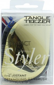Tangle Teezer Detangling Hair Brush Compact - Black & Gold