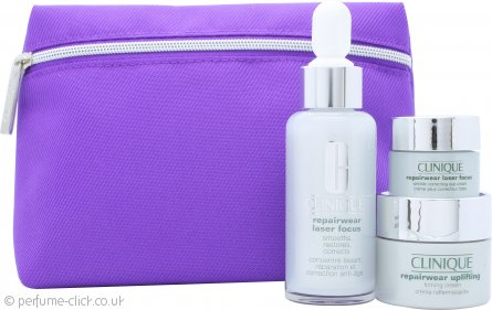 Clinique Repairwear Laser Focus Gift Set 30ml Serum + 15ml Uplifting Cream + 5ml Eye Cream