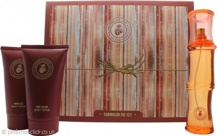 Caribbean Joe For Her by Caribbean Joe Gift Set 100ml EDT + 150ml Body Lotion + 150ml Shower Gel