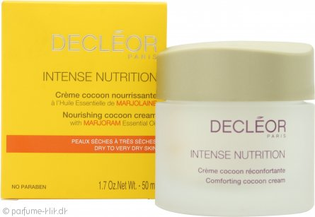 Decleor Intense Nutrition Nourishing Cocoon Cream with Marjoram Essential Oil 50ml - Tør / Meget tør hud