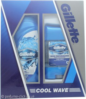 Gillette Cool Wave Gift Set 250ml Shower Gel + 70g Clear Gel Deodorant
