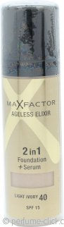 Max Factor Ageless Elixir 2 in 1 Foundation + Serum 30ml Ivory 40