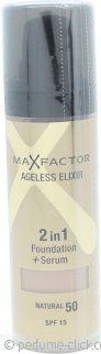 Max Factor Ageless Elixir 2 in 1 Foundation + Serum 30ml Natural 50