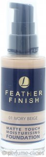 Lentheric Feather Finish Base Hidratante Toque Mate 30ml – Beige Marfil 01