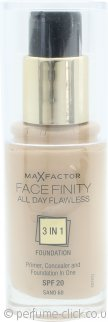 Max Factor Facefinity All Day Flawless 3 in 1 Foundation SPF20 30ml - 60 Sand