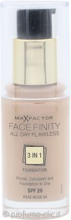 Max Factor Facefinity All Day Flawless 3 in 1 Fondotinta SPF20 30ml - 65 Rose Beige