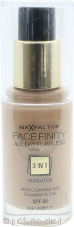 Max Factor Facefinity All Day Flawless 3 in 1 Fondotinta SPF20 30ml - 77 Soft Honey