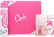 Revlon Charlie Pink Gift Set 30ml EDT Spray + 75ml Body Spray