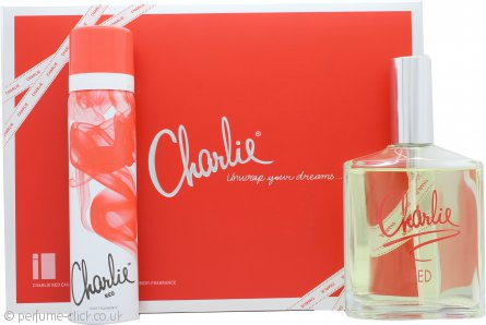 Revlon Charlie Red Eau Fraiche Gift Set 100ml Eau Fraiche Spray + 75ml Body Spray