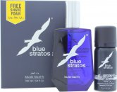 Parfums Bleu Limited Blue Stratos Gift Set 50ml EDT + 25ml Shave Gel