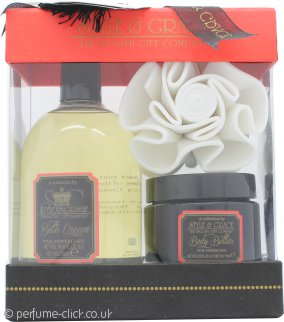 Style & Grace Decadence Irresistibly Rich Bath & Body Gift Set 500ml Bath Creme + 170ml Body Butter + Flower Sponge