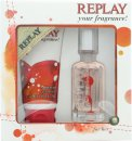Replay For Her Gift Set 20ml EDT + 50ml Shower Gel