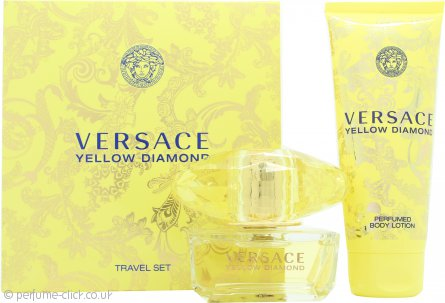 Versace Yellow Diamond Gift Set 50ml EDT + 100ml Body Lotion