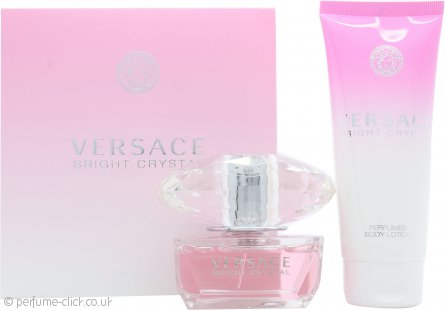 Versace Bright Crystal Gift Set 50ml EDT + 100ml Body Lotion