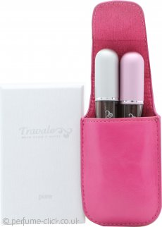 Travalo Gift Set 2 x Refillable Sprays (Pink + Silver) + Carry Case (Pink)