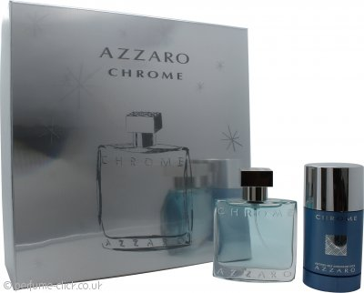 Azzaro Chrome Gift Set 50ml EDT + 75ml Deo Stick