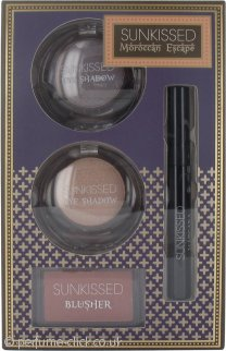 Sunkissed Moroccan Escape Dream Glow Gift Set 2 x 6g Eyeshadow + 4g Blusher + 5.5ml Mascara Black