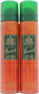 Lentheric Tweed Body Spray 2x 75ml