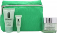 Clinique Daily Defenders Gift Set 50ml Clinique Superdefense SPF20 +  30ml 7 Day Scrub Cream + 5ml Superdefense SPF20 Eye Cream + Bag