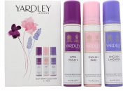 Yardley Body Spray Gift Set 4 x 75ml - English Bluebell + Lily of the Valley  + English Rose + English Lavender