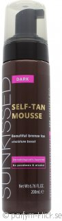 Sunkissed Instant Self Tanning Mousse 200ml - Mörk Bronze