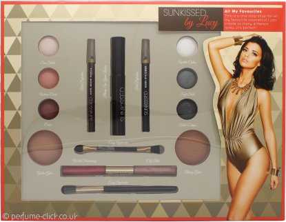 Sunkissed By Lucy All My Favourites Gift Set 6 x Eyeshadow + 2 x Bronzer + Khol Eye Pencil Black + Khol Eyebrow Pencil + Mascara Black + Double Lipgloss + 2 x Applicator