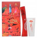 Kenzo Flower Tag Gift Set 100ml EDT + 50ml Body Lotion + Make Up Bag