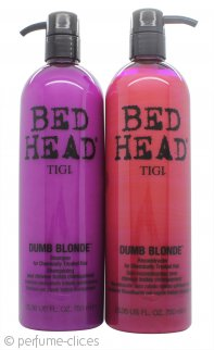 Tigi Duo Pack Bed Head Dumb Blonde 750ml Champú + 750ml Acondicionador