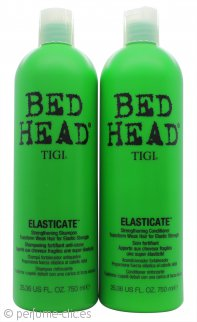 Tigi Duo Pack Bed Head Elasticate 750ml Champú + 750ml Acondicionador